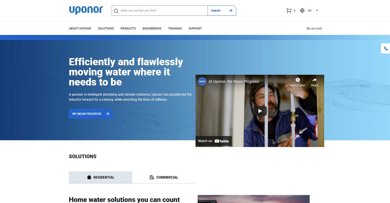 Uponor website
